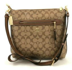 New Authentic Coach F77885 Signature Mae File Bag Crossbody
