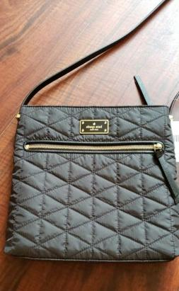 NEW Authentic KATE SPADE Quilted Nylon Crossbody Bag Black