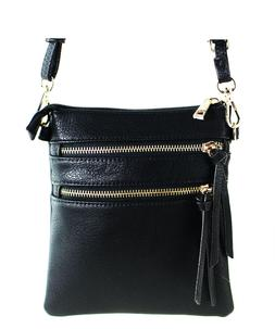 New Functional Multi Pocket Crossbody Bag 80808A,BLACK,WITH