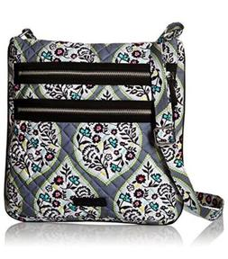 NEW Vera Bradley Iconic Triple Zip Hipster Crossbody Shoulde