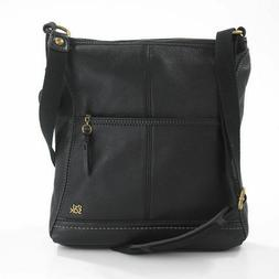 NEW! The Sak IRIS 104118 Black Leather Medium Size Crossbody