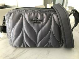 NEW Kate Spade Ellie Double Zip Camera Bag Quilted Nylon Cro