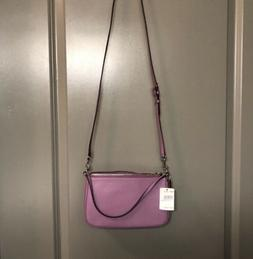 New Coach Lilac Top Handle Leather Pouch Crossbody Bag F2559