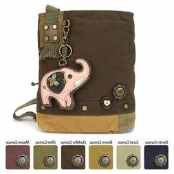 New Chala Patch Crossbody ELEPHANT  Bag Canvas Messenger DAR