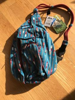 New W/Tags KAVU Mini Rope Pack Sling Bag Crossbody Shoulder,