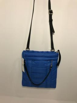 New With Tags Nine West Blue Nylon Zippered Up Crossbody Mes