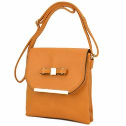 New Dasein Women Soft Faux Leather Crossbody Messenger Bag H