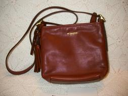 NWOT Coach 19901 Brown Leather Crossbody Bag, Brown/Saddle C