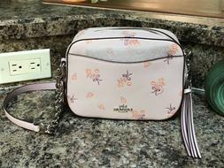 NWT $275 Coach Crossbody Leather Floral Bow Camera Bag 29347