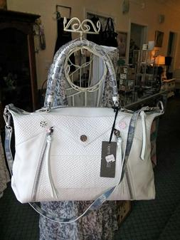 NWT JOELLE HAWKENS $295 Isabel LEATHER SATCHEL CROSSBODY Han