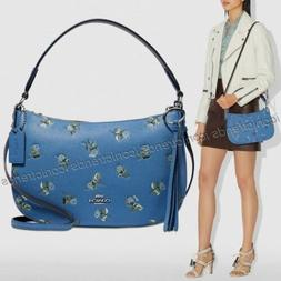NWT 💎 Coach 55373 Sutton Crossbody Floral Print Leather S