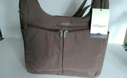 NWT Baggallini Cargo Hobo Tote Bag, Brown