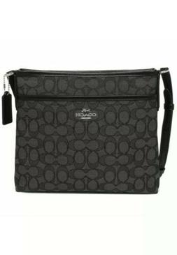NWT Coach F29960 Signature Jacquard Crossbody File Bag Purse