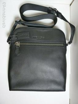 NWT Coach F68014 Men's Charlies Flight Bag Pure Leather Cros