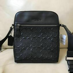 NWT Coach F73338 Men's Charlies Flight Bag Embossed Leather