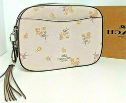 NWT COACH FLORAL BOW CAMERA ICE PINK LEATHER SHOULDER BAG CR