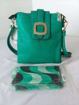 NWT Alyssa Green Crossbody Vegan Lead Free Purse Bag Matchin