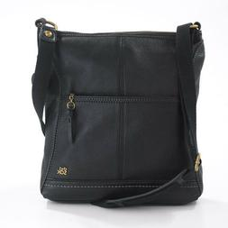 NWT The Sak IRIS 104118 Black Leather Medium Size Crossbody