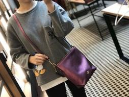 NWT Coach Mini Abby Duffle Metallic Berry Leather Bag F87691