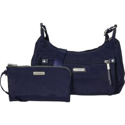 NWT baggallini Out and About Crossbody Bag RFID navy removab