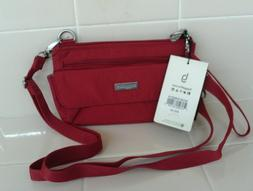 NWT  Red Baggallini Small Crossbody/Wristlet  Bag