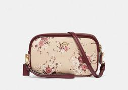 NWT COACH Sadie 67087 with Print Beechwood Floral Coated Can