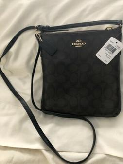 NWT Coach Signature NS Crossbody Bag Brown/Black F58309