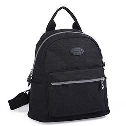 Lily & Drew Nylon Mini Casual Travel Daypack Backpack Purse
