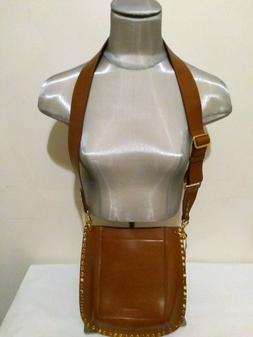 Isabel Marant Oskan Leather Hobo/Crossbody Bag Caramel Color