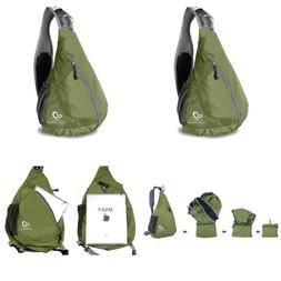 WATERFLY Packable Shoulder Backpack Sling Chest Sport Hiking