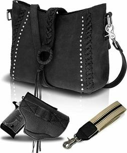 Portable Genuine Leather Concealed Carry Crossbody Shoulder