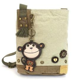 Chala Purse Handbag Sand Canvas Crossbody & Key Chain Tote B