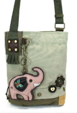 Chala Purse Handbag Sand Canvas Crossbody with Key Chain Tot