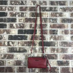 Reaction Kenneth Cole KC Double Trouble Mid Crossbody Red Si