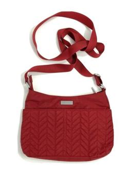 BAGGALLINI Red Quilted Adjustable Crossbody/Shoulder Bag w/b