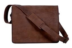 Komal's Passion Leather 14 Inch Retro Leather Laptop Messeng