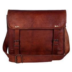 "Rustic Town 15"" Genuine Leather Handmade Crossbody Messenger"