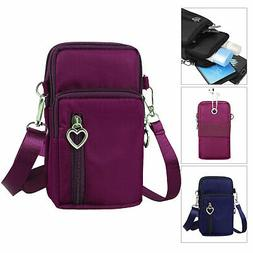 S/L Women Cross body Wallet Purse Coin Cell Phone Bag Mobile