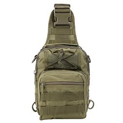 Shoulder Bag, TOPQSC Tactical Shoulder Bag Sling Chest Pack