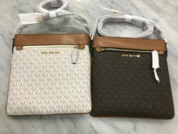 Michael Kors Signature Connie Large NS Flat Crossbody Bag Sw