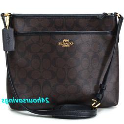 COACH SIGNATURE MESSENGER FILE BAG CROSSBODY SLING PURSE IN