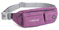 WATERFLY Slim Soft Polyester Water Resistant Waist Bag Pack