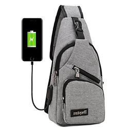 StyleZ Sling Backpack - Travel Small Backpack with USB Charg