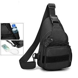 TEGOOL Sling Bag Shoulder Chest Cross Body Backpack for Men