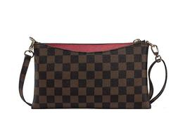 Small Checkered Crossbody Bag for Women Wristlet Clutch with