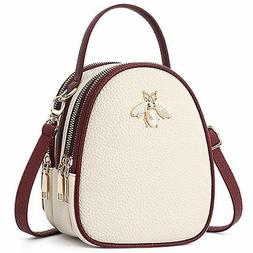 Small Crossbody Bags Cell Phone Cute Shoulder Bag Beige for