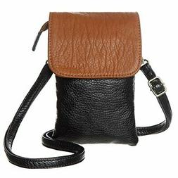 Small Leather Crossbody Cell Phone Purse Wallet Shoulder Bag