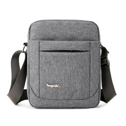 Solid Flap <font><b>Bag</b></font> College style Nylon Messe