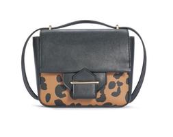 REED KRAKOFF Standard Crossbody Bag, Black Saddle Ocelot