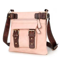 Dasein Top Belted Crossbody Bags for Women Soft Leather Mess